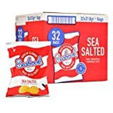 Seabrook sea salted crisps 32 x 31.8 g