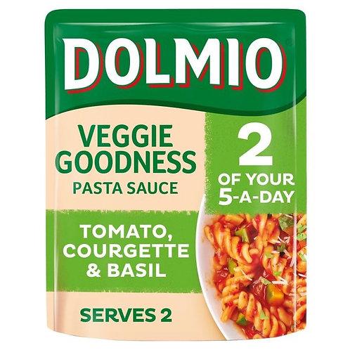 Dolmio veggie Goodness Pasta sauce sun ripened tom,courgette & basil 340g