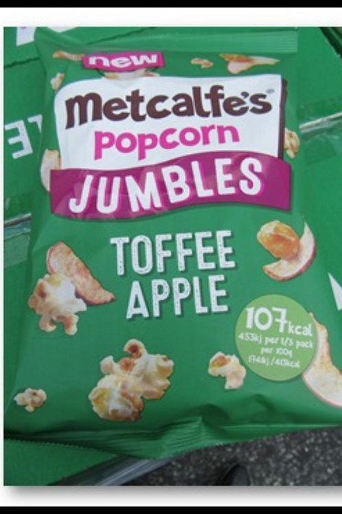 Metcalfes popcorn jumbles toffee apple 80g x 8