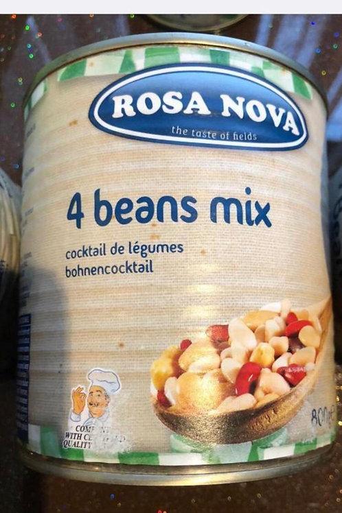 Rosa nova 4 beans mix 800g