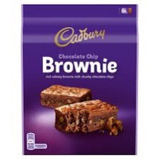 Cadbury choc chip brownie 150g
