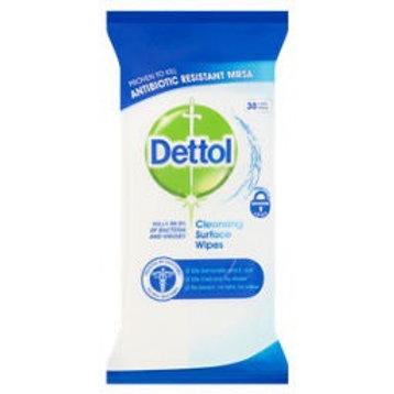 Dettol antibacterial wipes  30