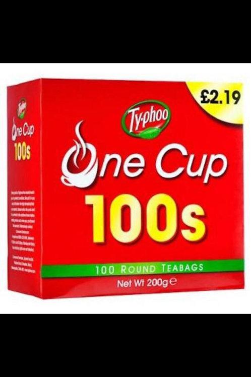 Ty-phoo one cup 100 tea bags