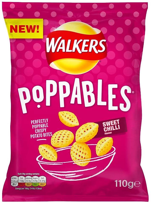 Walkers Poppables sweet chilli 9 x 110g