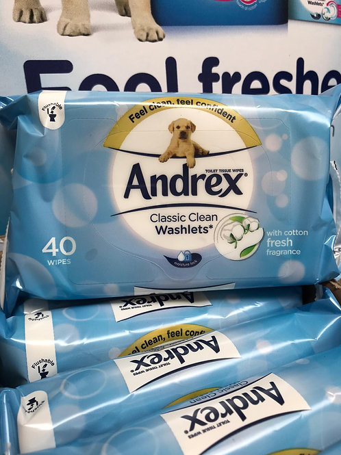 Andrex 40 classic clean wipes