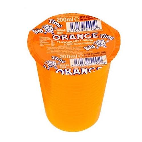 Big time SF orange cup drinks 24 x 200ml