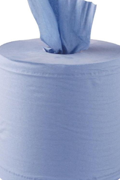 Blue centre feed roll 2ply x 6