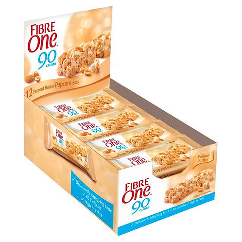 Fibre  one peanut butter popcorn bars 12 x 21g