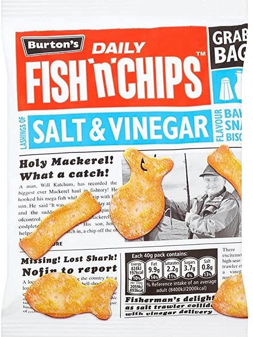 Fish & CHIPS Salt & Vinegar 6 x 40g