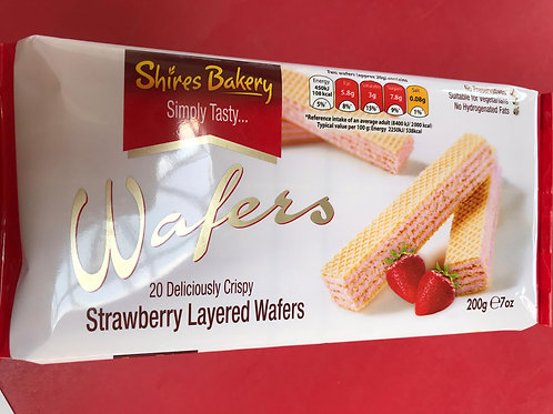 Shires wafers strawberry 200g 2 for