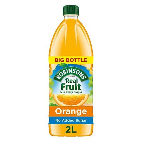 Robinsons real fruit NAS orange 2ltrs