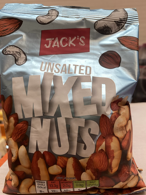Jacks unsalted mixed nuts 200g