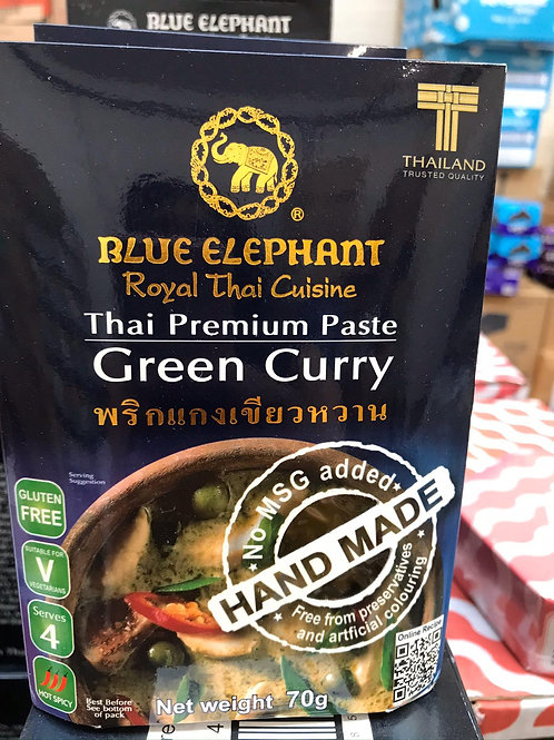 Blue elephant green curry