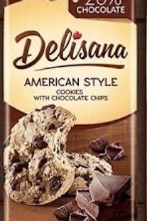 Delisana American style cookies with choc chip 180g