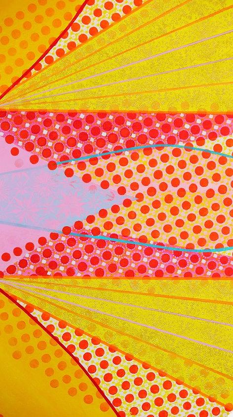 detail,Kaleidoscope of Colour, acrylic o