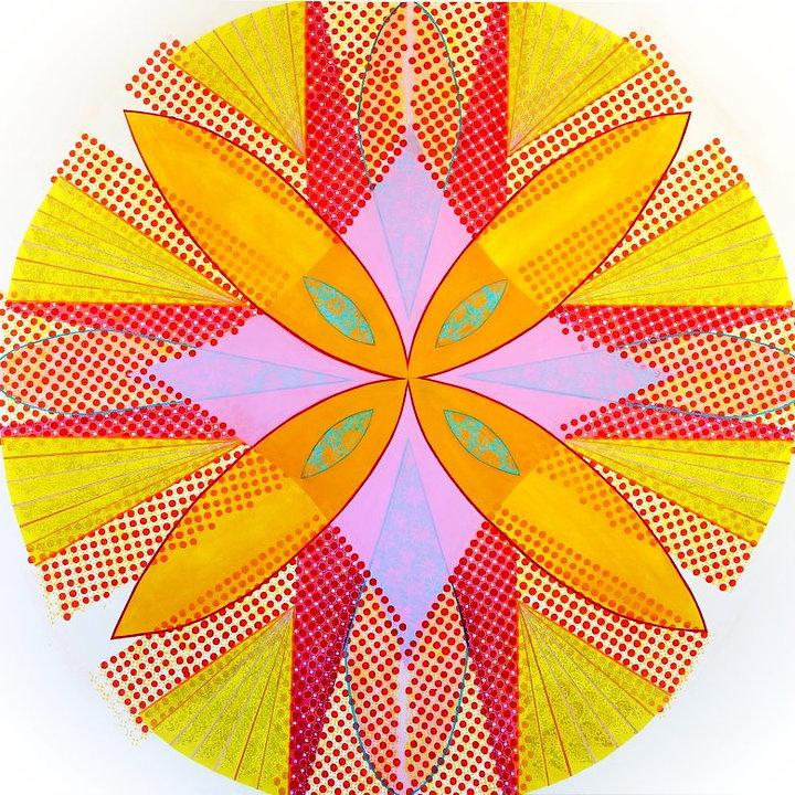 Kaleidoscope of Colour, acrylic on canva