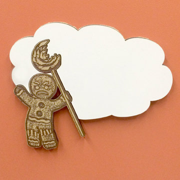 Gingerbread Man Thought Bubble Magnet