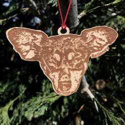 ornament wood 3in bel free