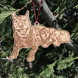 ornament wood 5in sapph bel free