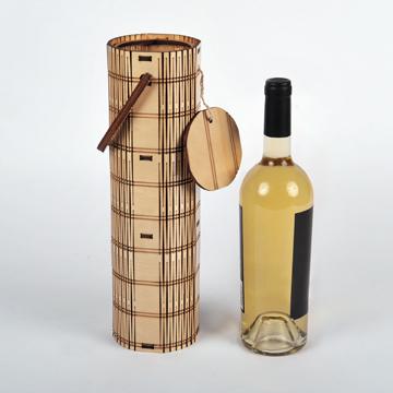wood wine bottle carrier