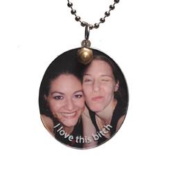 Custom photo frame necklace