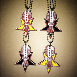 Hand-painted award team necklace