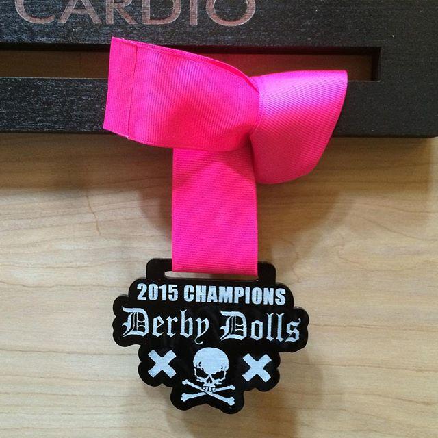 LA Derby Dolls Championship medal
