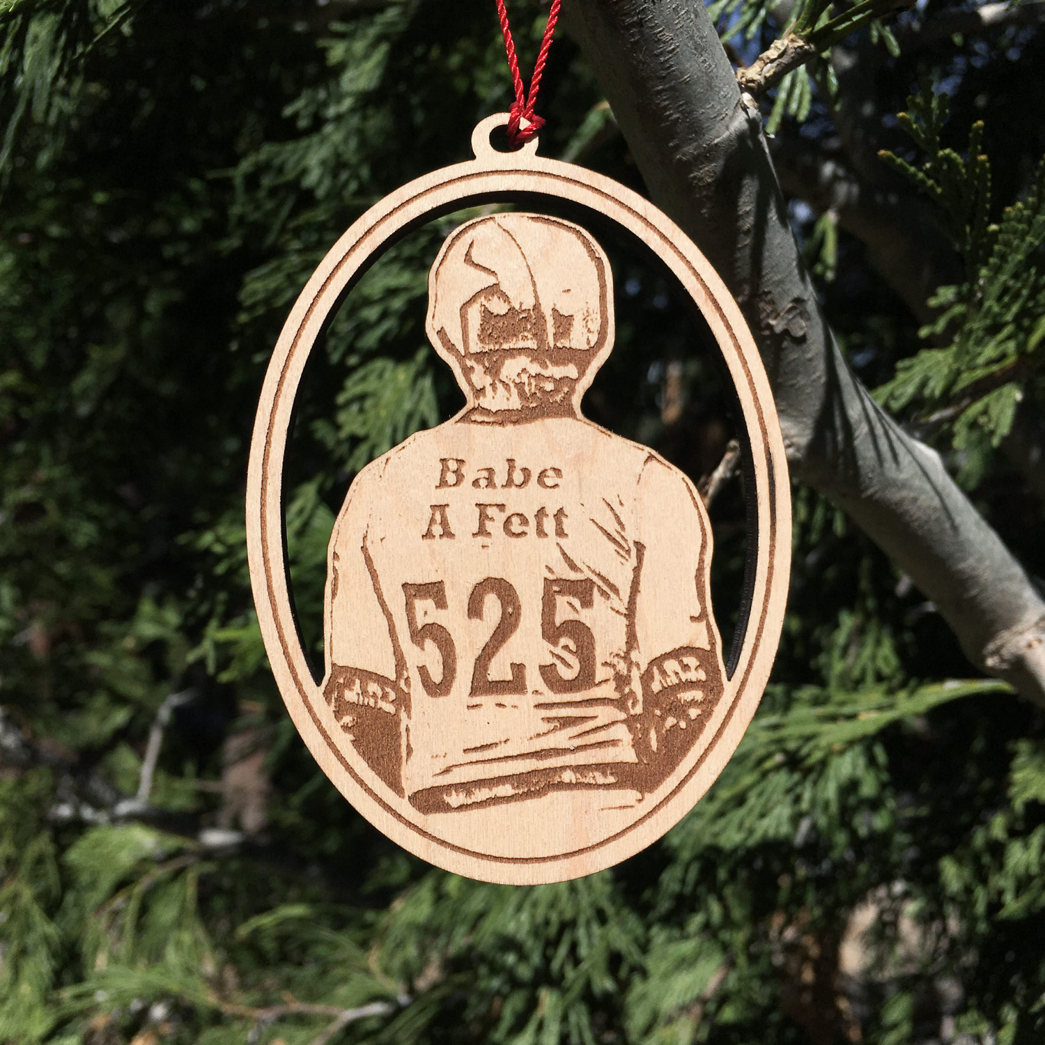 ornament wood 3in fett