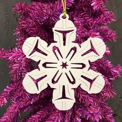 Mandalorian Homage snowflake Ornament