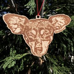 ornament wood 5in bel free