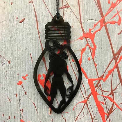 Demogorgon Stranger Things Inspired light bulb Ornament