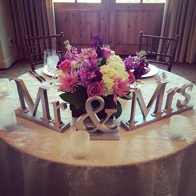 Mr & Mrs Free standing signage