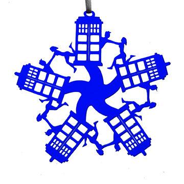 TARDIS Homage Snowflake