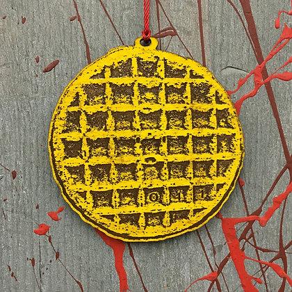 Eggo Waffle Ornament