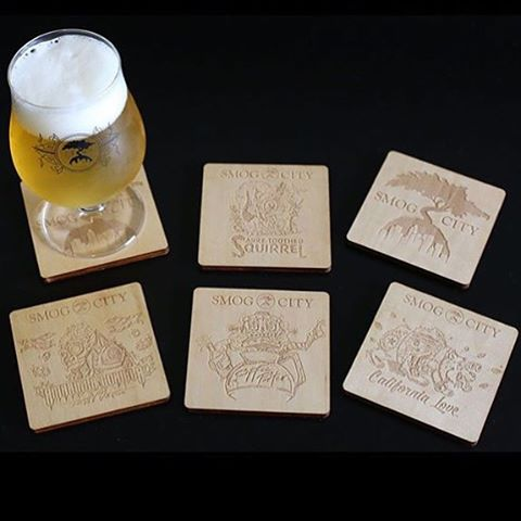 Coasters for Smog City Brewery