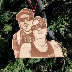 ornament wood 3in sz free