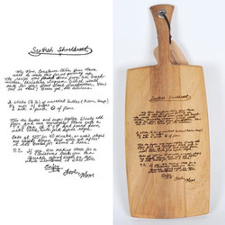 etched cutting board