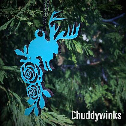 Jackalope Wood Ornament