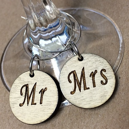 Mr/Mrs Wine Charms
