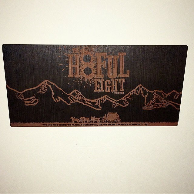 The Hateful Eight Plaque