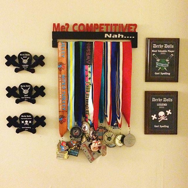 two-tone custom medal rack