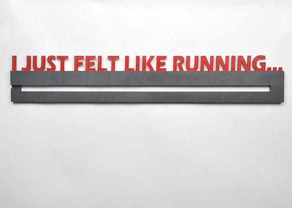 """I just felt like running... 24"""" medal display"""