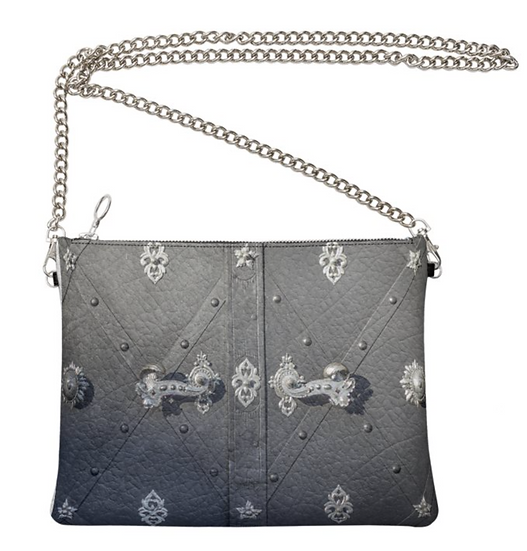 """The Ann Marie Leather & Chain Crossbody in """"The Sovereign"""""""