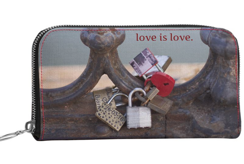 "The Jules All Leather Wallet Purse  in ""Locks of Love,"" Rome"
