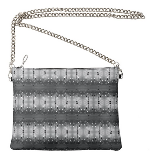 "The Ann Marie Leather & Chain Crossbody in ""Crystal Fringe"""