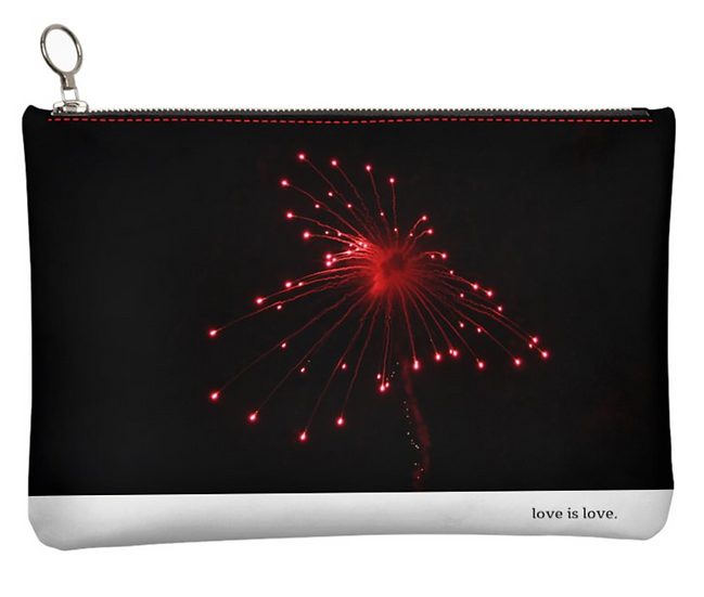 """The M.A.G. Grab & Go Leather Clutch Bag in """"Heart's A Glow,"""" Atlanta"""