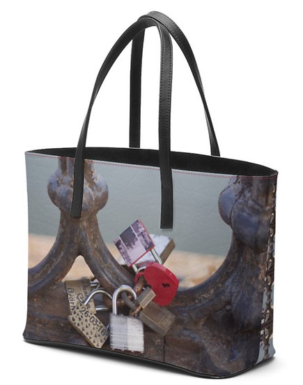 """The Betty Jane Roth Leather Petite Tote  in """"Locks of Love,"""" Rome"""