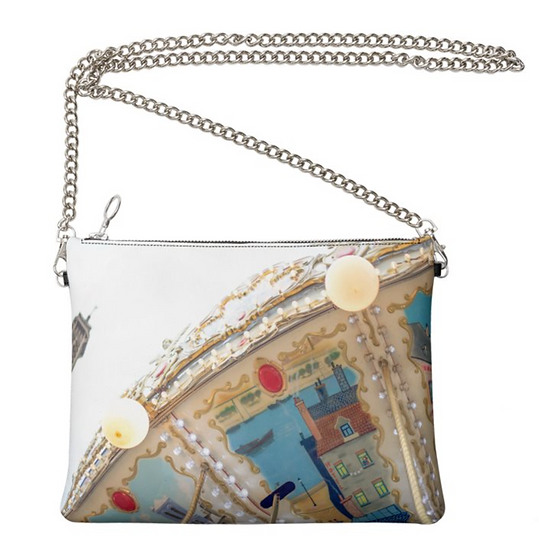 """The Ann Marie Leather & Chain Crossbody in """"Parisel"""""""
