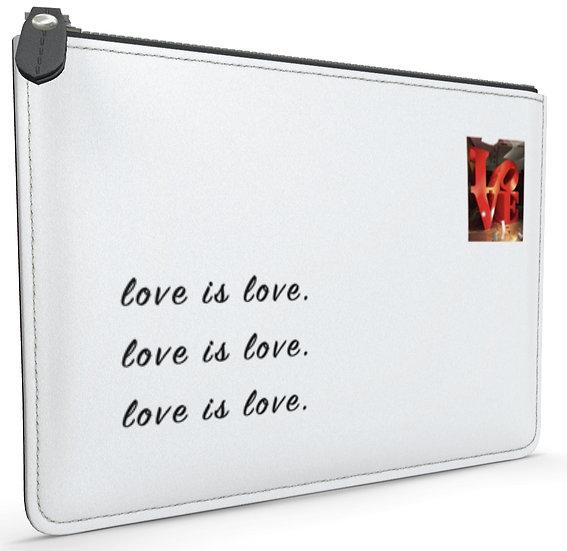 """The Doris Grace Leather Envelope Pouch in """"Spotlight on Love,"""" Paris - 2 Sizes"""