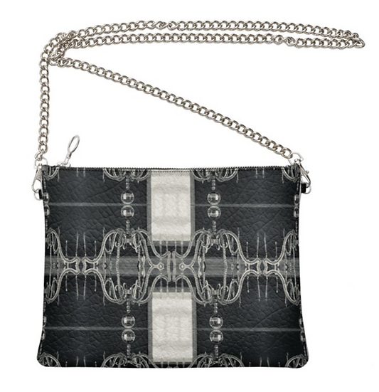 """The Ann Marie Leather & Chain Crossbody in """"Bootleg Swing"""""""